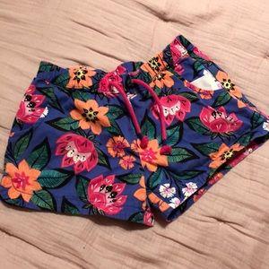 Gymboree Girls Floral Shorts - Size 10